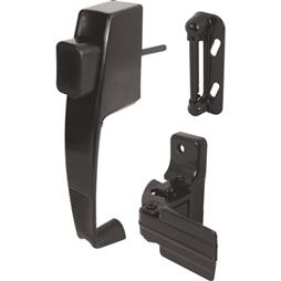 Picture of K 5071 - Push Button Screen or Storm Door Latch with Tie Down, Black, Pack of 1