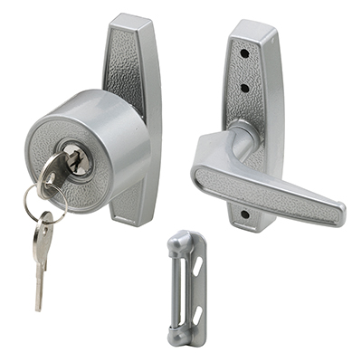 Picture of K 5078 - Tulip Knob with Keyed Lock, 3 inch Mounting Holes, Aluminum, Pack of 1