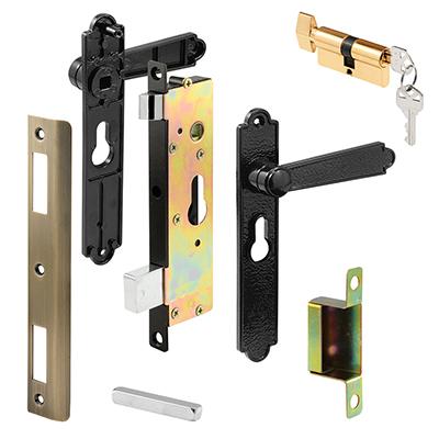 """Picture of K 5092 - Security Door Mortise Lock, 6-3/4"""" HC, Black"""