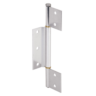 Picture of K 5093 - Screen Door Hinge, 1/8 inch  Offset  Center Leaf, Aluminum Finish, Pack of 1