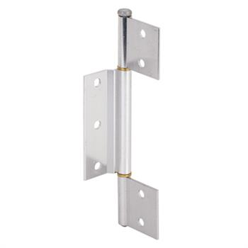 Picture of K 5093 - Screen Door Hinge, 1/8 inch  Offset  Center Leaf, Aluminum Finish, Pack of 1