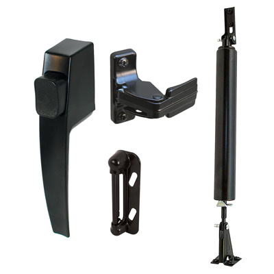 Picture of K 5095 - Screen Door Hardware Kit, Black, Boxed, Push Button Handle, Closer, Pack of 1
