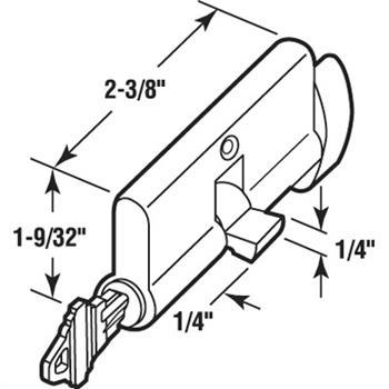 K 5105 Storm Or Screen Door Mortise Lock Cylinder