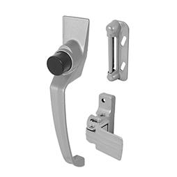 Picture of K 5107 - Push Button Screen or Storm  Door Latch with Tie-Down, Aluminum, Pack of 1