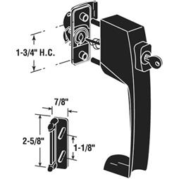 Picture of K 5139 - Push Button Screen or Storm Door Latch with Tie Down, Key Lock,  Black, Pack of 1