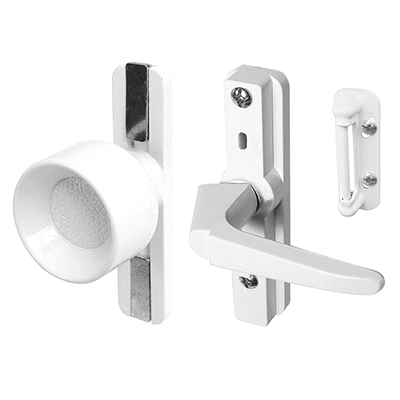 Picture of K 5151 - Universal Knob Latch,  Adjustable Mounting Holes, White, pack of 1