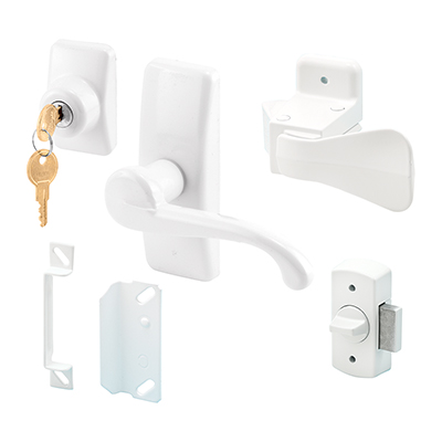 Picture of K 5163 - Georgian Style Lever Latch with Deadbolt, White, pack of 1
