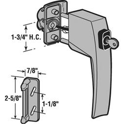 Picture of K 5179 - PUSH BUTTON LATCH & KEY LOCK, FLORIDA BROWN