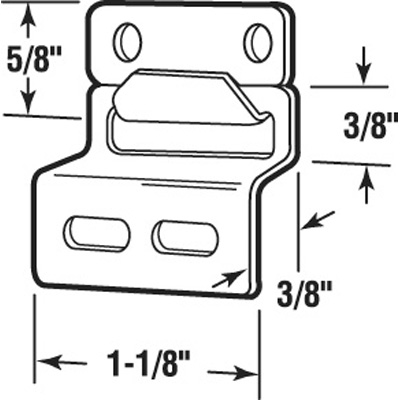 Picture of PL 14723 - Prime-Line Screen Top Hanger Set, Stamped Aluminum, Mill, 25 Sets per tub