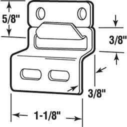 Picture of PL 14723 - Prime-Line Screen Top Hanger Set, Stamped Aluminum, Mill, 25 Sets per tub