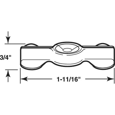 Picture of PL 14843 - Prime-Line 1-11/16 inch Double Wing Clips, Zinc Plated Steel, 25 per tub