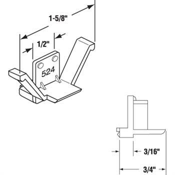 Picture of PL 14906 - Prime-Line Clear Plastic Screen Retainer Clip, 100 per Box