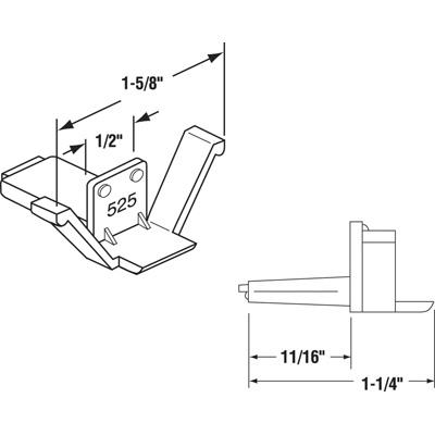 Picture of PL 14907 - Prime-Line Clear Plastic Screen Retainer Clip, 100 per Box