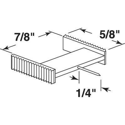 Picture of PL 15679 - Prime-Line Window Grid Retainer, 7/8 inch, Clear Plastic, 25 per tub