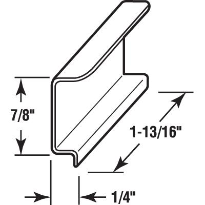 Picture of PL 16008 - SPLINE CHANNEL PULL TABS ALUM. 25EA