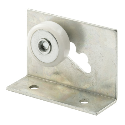 Picture of M 6011 - Shower Door Roller Assembly, Aluminum Bracket, 3/4 inch Flat Nylon Roller, Pack of 2