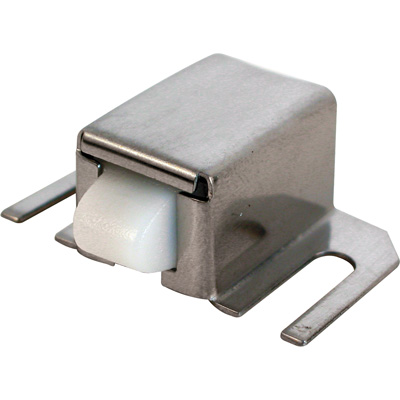 Picture of M 6014 - Shower Door Catch, Nylon Tip,  Stainless Steel Housing, Adjustable, Pack of 1
