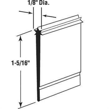 M 6023 Shower Door Bottom Sweep Star Insert Shape 1 5