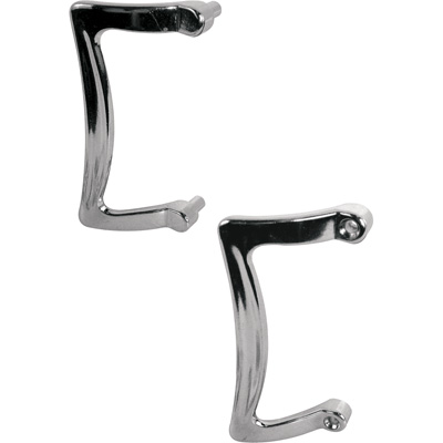 Picture of M 6029 - Shower door handle set, chrome.