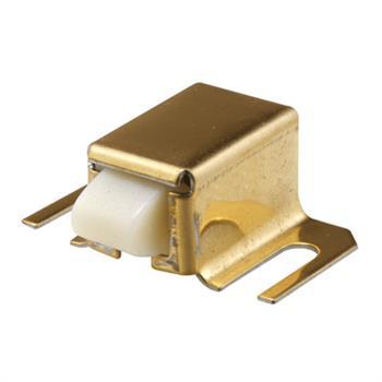 M 6033 Shower Door Catch Nylon Tip Brass Finish