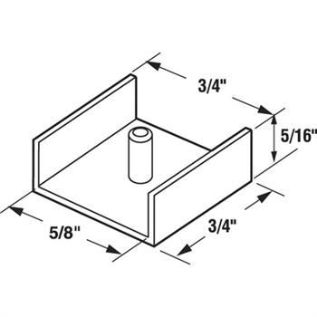 M 6039 - Tub Enclosure Sliding Door Bottom Guide