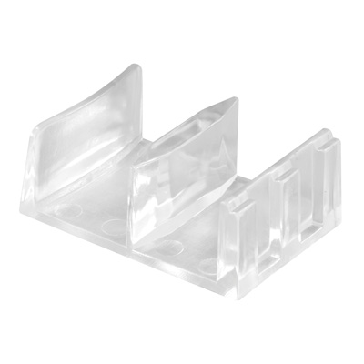 "Picture of M 6058 - Sliding Shower Doors Bottom Guide, 1-9/16"", Plastic, Clear"