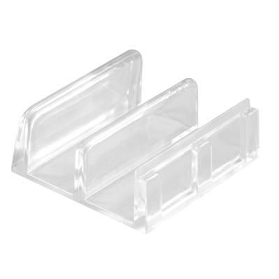 "Picture of M 6059 - Sliding Shower Door Bottom Guide, 1-7/16"", Plastic, Clear"
