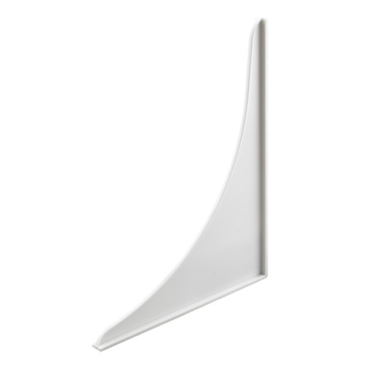 Picture of M 6085 - Tub & Shower Splash Guard, 9 inches Tall, White Plastic, Pack of 2
