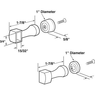 Picture of M 6097 - SHOWER DOOR PULL & BAR BRACKET, BRASS