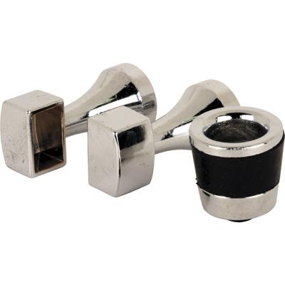 Picture of M 6098 - Frameless Shower Door Finger Pulls, Rubber Bumpers, Towel Bar Brackets, Pack of 1 set