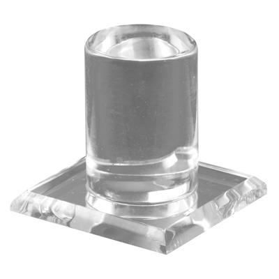 Picture of M 6150 - Clear Plastic Pull, Adhesive Backed, Mounts easily to Glass, Pack of 2
