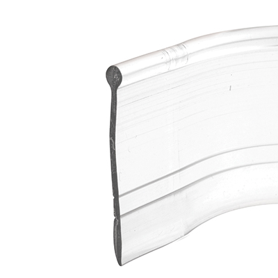 Picture of M 6184 - Shower Door Bottom Sweep, Clear, 3/32 inch Round Insert Shape, 1 inch wide, Pack of 1