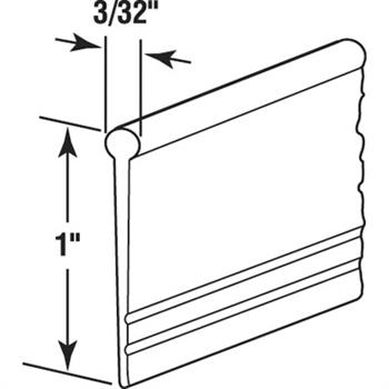 M 6184 Shower Door Bottom Sweep Clear 3 32 Inch Round
