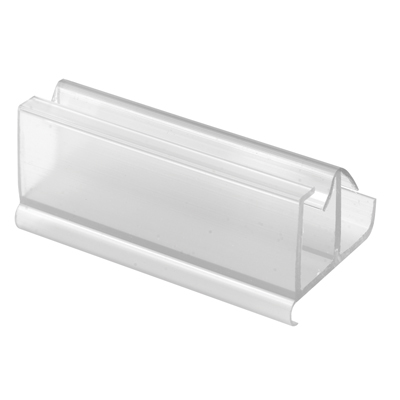 Picture of M 6217 - Tub Enclosure Bottom Guide, For Frameless Panels, Clear vinyl, Snap-in, Pack of 1