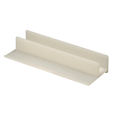 Picture of M 6221 - Tub Enclosure Bottom Guide, White, Plastic, Self-Adhesive, pack of 1