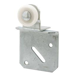"Picture of N 6511 - Wardrobe Door Roller Assembly, 1"", Plastic, Convex, Back"