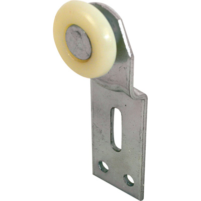 Picture of N 6512 - Wardrobe Door Front Roller Assembly, 1 inch, Convex Nylon Roller, Pack of 2