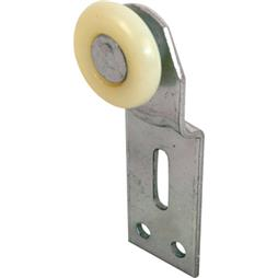 "Picture of N 6512 - Wardrobe Door Roller Assembly, 1"", Plastic, Convex, Front"