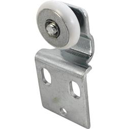 "Picture of N 6516 - Wardrobe Door Roller Assembly, 3/4"", Plastic B.B., Convex"