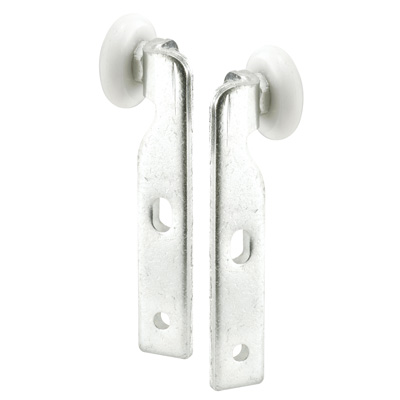 Picture of N 6519 - Wardrobe Door Roller Assemblies, Handed, Offset 7/8 inch Convex Roller, Pack of 2