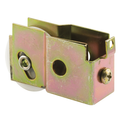 Picture of N 6572 - Mirror Door Roller, 1-1/2  inch BB Nylon Grooved Roller, 1 per package.