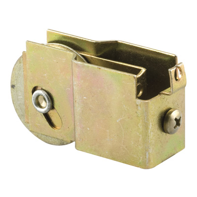 Picture of N 6573 - Mirror Door Roller, 1-1/2  inch BB Steel Grooved Roller, 1 per package.