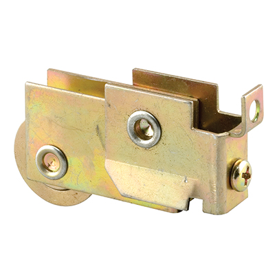Picture of N 6574 - Mirror Door Roller, 1-1/8  inch Ball Bearing Steel Grooved Roller, 1 pack