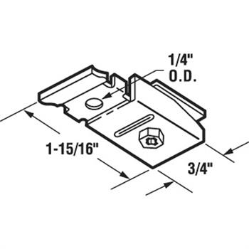 N 6606 Bi Fold Top Pivot Bracket Acme 2900 Series 1