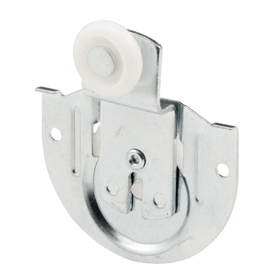 Picture of N 6649 - Closet Door Roller, 7/8 inch wheel, 3/8 inch offset, Front Panel, Pack of 2