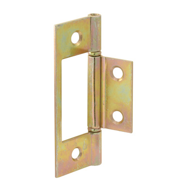 Picture of N 6656 - Bi-Fold Door Hinges, Non-Mortise Style, Brass Plated, Set of 2 per package