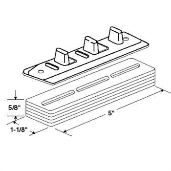 N 6661 Sliding Closet Door Floor Guide Carpet Riser Universal Design 1 Per Package