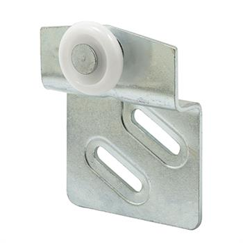 Picture of N 6668 - Wardrobe Door Roller, Back Panel, 7/8 inch convex nylon roller, Pack of 2