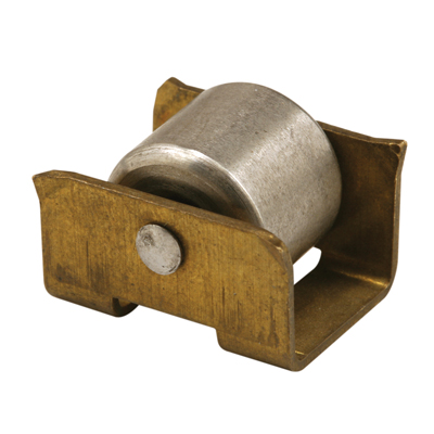 Picture of N 6675 - Wood Closet Door Roller, Insert Style, 1/2 inch Roller, Brass Housing, Pack of 2