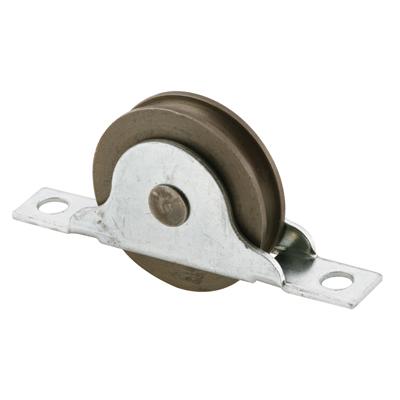 Picture of N 6687 - Wood Closet Door Roller, 1-3/8 inch concave roller, Bottom Mount, Pack of 2